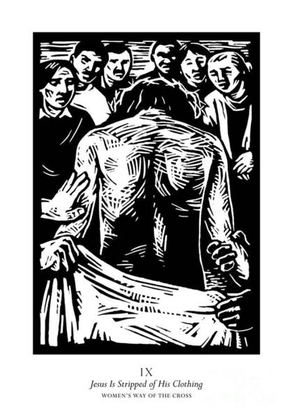 Painting - Women's Stations Of The Cross 09 - Jesus Is Stripped Of His Clothing - Jljst by Julie Lonneman