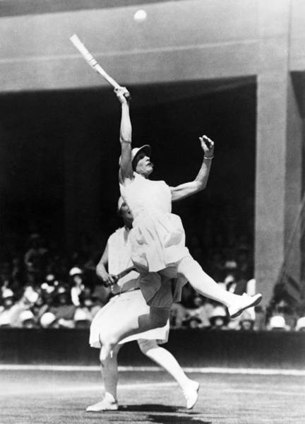 Photograph - Women's Tennis At Wimbledon by Underwood Archives