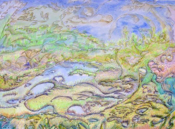 Inking Painting - Wonder Full Life Flow by J E T I I I