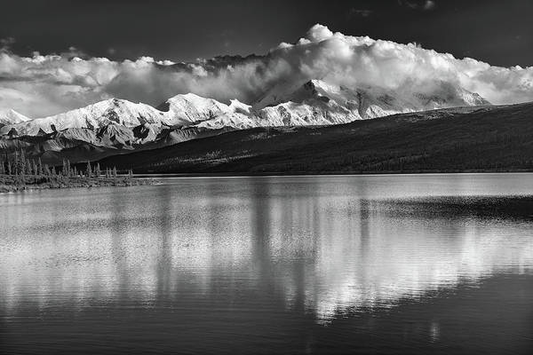Photograph - Wonder Lake In Black And White by Rick Berk