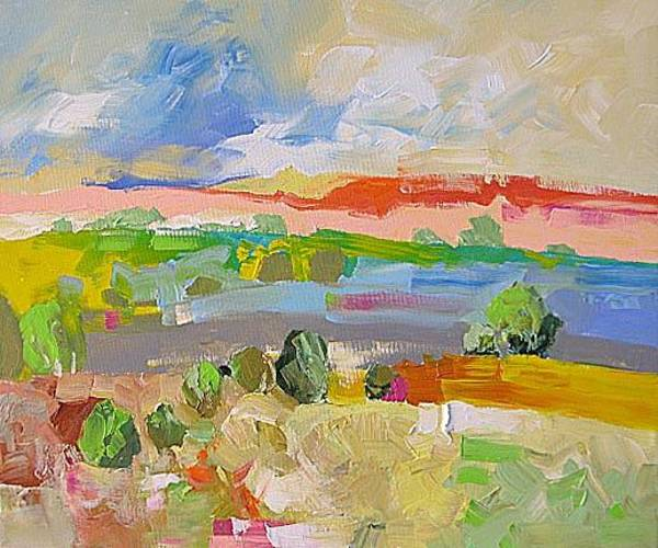 Fauve Painting - Wonder Of The West by Linda Monfort