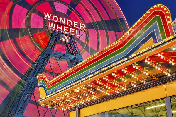 Photograph - Wonder Wheel At Coney Island by Susan Candelario