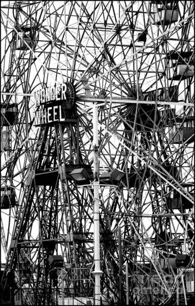 Photograph - Wonder Wheel Coney Island by Jeff Breiman