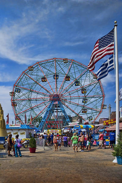 Wall Art - Photograph - Wonder Wheel In Coney Island New York by David Smith