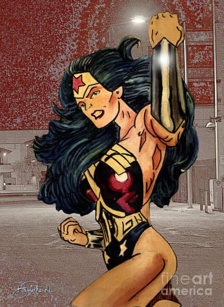 Drawing - Wonder Woman by Bill Richards