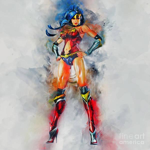 Digital Art - Wonder Woman by Ian Mitchell