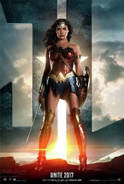 Wall Art - Digital Art - Wonder Woman - Justice League by Geek N Rock