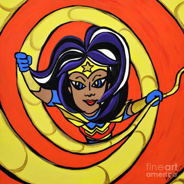 Painting - Wonder Woman by Rebecca Weeks Howard