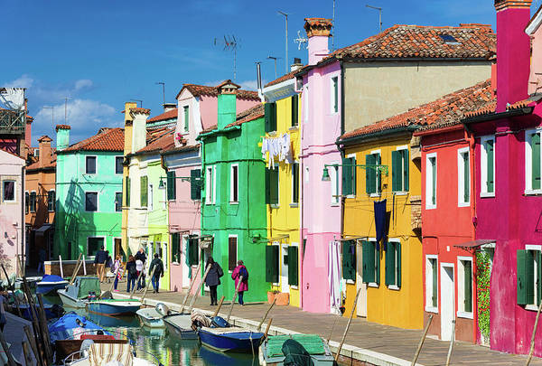 Photograph - Wonderful Colored Houses In Burano Venice Italy by Matthias Hauser