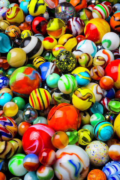 Memory Game Photograph - Wonderful Colored Marbles by Garry Gay