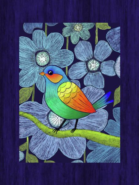 Scratchboard Drawing - Wonderful Tropics by Little Bunny Sunshine