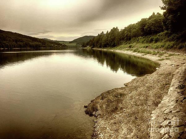 Photograph - Wonderfully Calm Lake -  Wundervoll Ruhiger See by Eva-Maria Di Bella