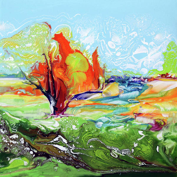 Wall Art - Painting - Wonderland Flame Tree by Susan Card