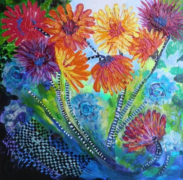 Elwood Blues Painting - Wonderland Garden by Jann Elwood