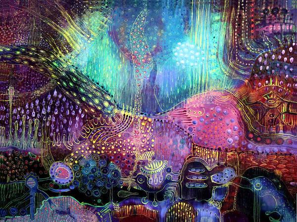 Surrealistic Painting - Wonderland by Lolita Bronzini