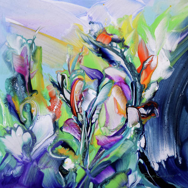 Wall Art - Painting - Wonderland Wild Flowers by Susan Card