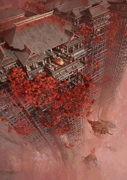 Sci-fi Digital Art - Wonders Liyomizu by Te Hu