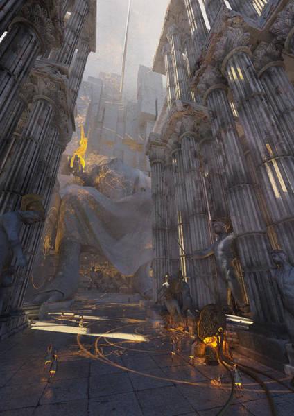Sci-fi Digital Art - Wonders Temple Of Zeus by Te Hu