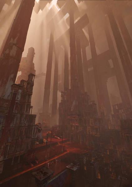 Sci-fi Digital Art - Wonders_temple Of Artmeis by Te Hu