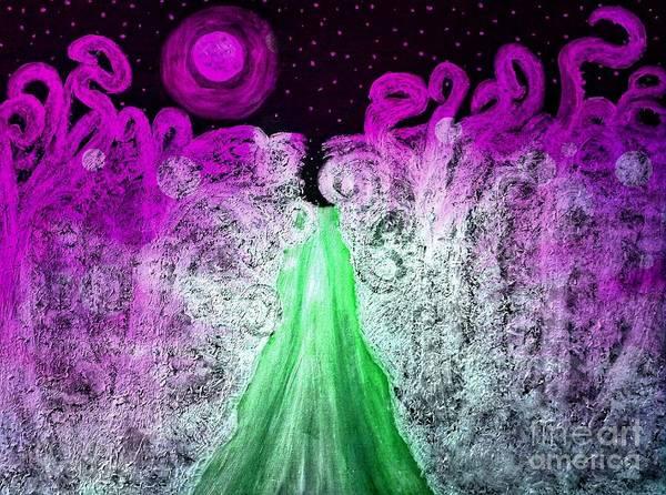 Painting - Wonky Winters Night by Rachel Hannah