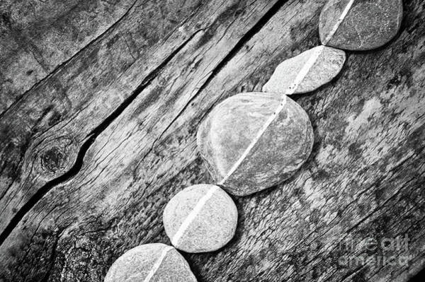 Wall Art - Photograph - Wood And Stones by Delphimages Photo Creations