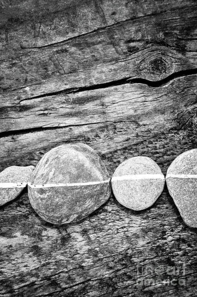 Wall Art - Photograph - Wood And Stones - Vertical by Delphimages Photo Creations