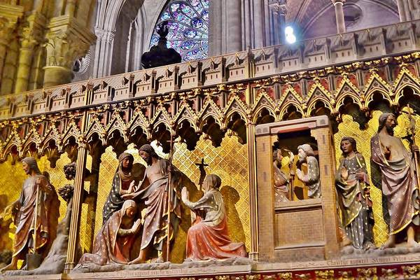 Photograph - Wood Carvings At The Notre Dame Cathedral Paris France by Kim Bemis