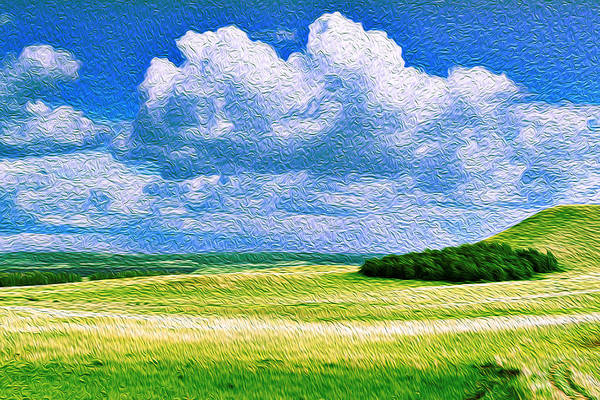 Photograph - Wood Copse On A Hill Oil Painting Art by John Williams