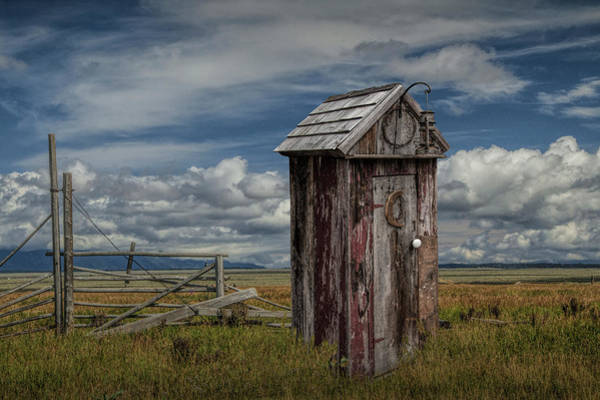 Moulton Wall Art - Photograph - Wood Outhouse Out West by Randall Nyhof