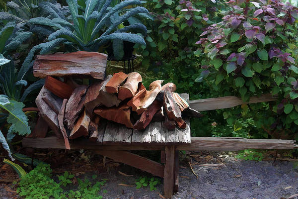 Photograph - Wood Pile by Pamela Walton