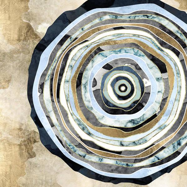Contrast Digital Art - Wood Slice Abstract by Spacefrog Designs