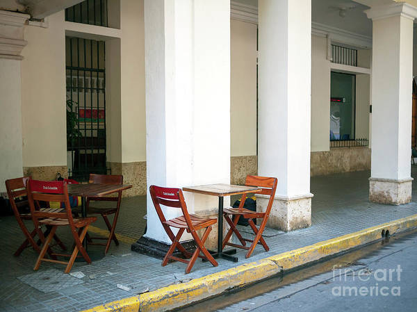 Photograph - Wood Table In Cartagena by John Rizzuto