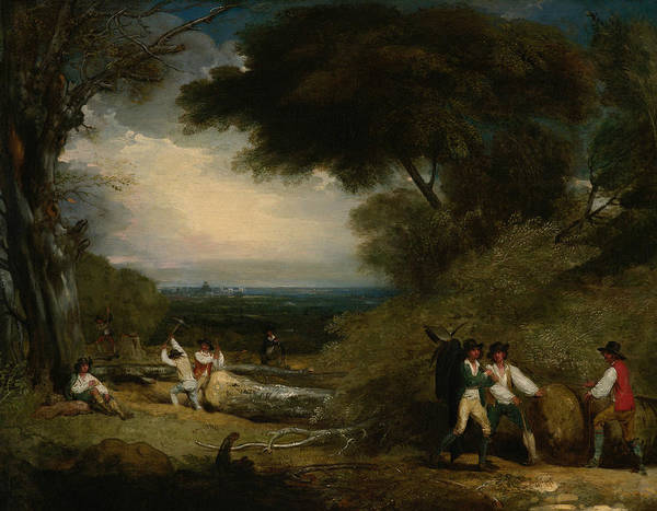 Painting - Woodcutters In Windsor Park, 1795 by Benjamin West