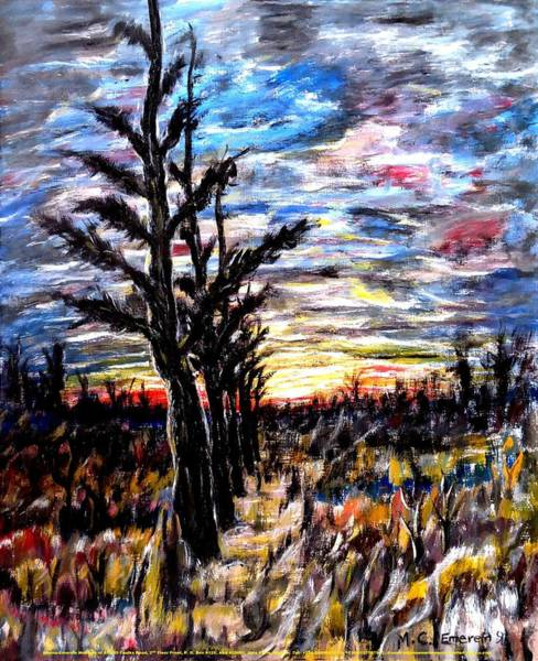 Recycling Painting - Wooded Landscape At Dusk #1 by Mbonu Emerem