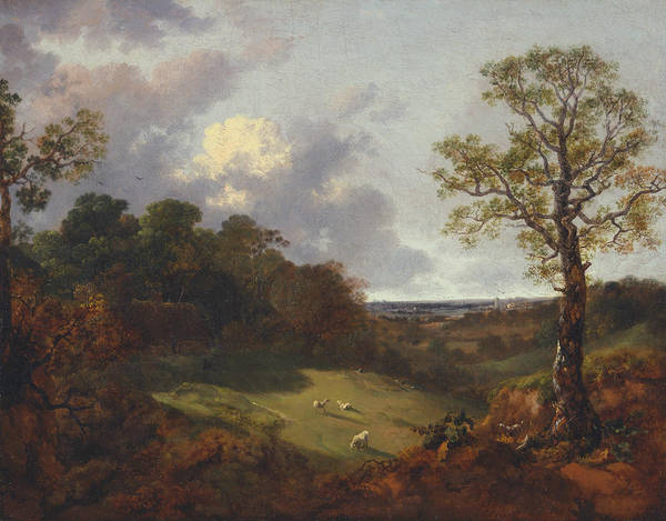 Painting - Wooded Landscape With A Cottage And Shepherd by Thomas Gainsborough