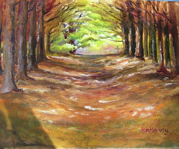 Wall Art - Painting - Wooded Sanctuary by Jan Harvey