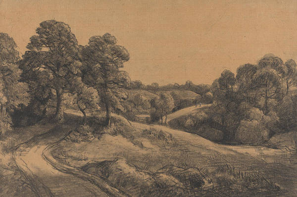 Painting - Wooded Slope With A Receding Road by John Constable
