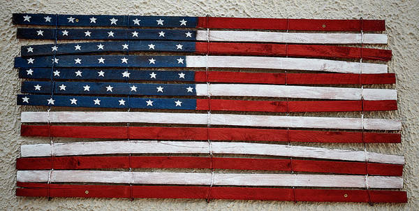 Wall Art - Photograph - Wooden American Flag by Paul Freidlund