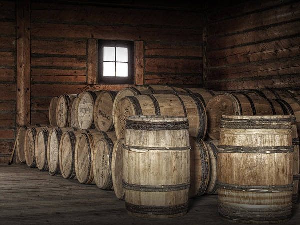 Photograph - Wooden Barrel Casks In Storage by Randall Nyhof