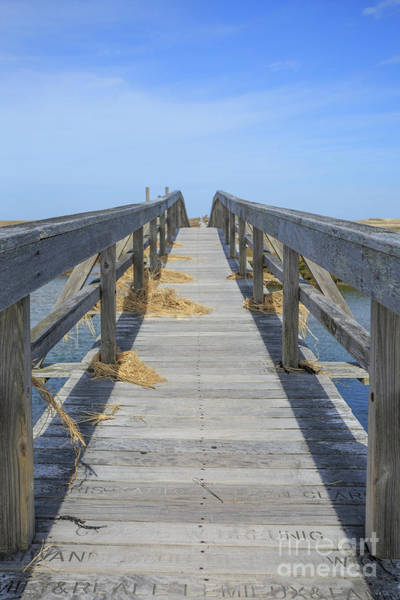 Photograph - Wooden Bridge Across The Dunes by Edward Fielding