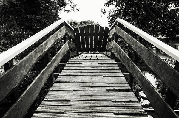 Wall Art - Photograph - Wooden Bridge Perspective. Giethoorn. The Netherlands by Jenny Rainbow