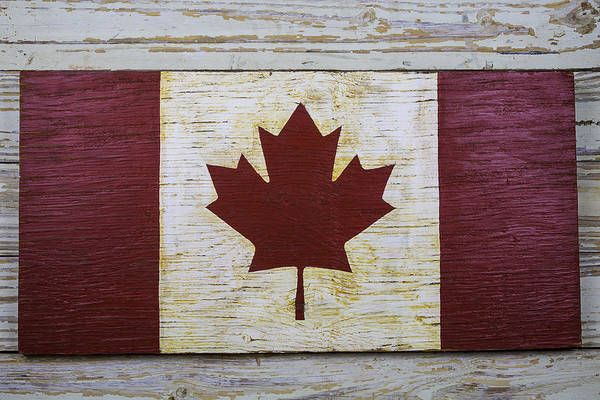 Gay Flag Photograph - Wooden Canadian Flag by Garry Gay
