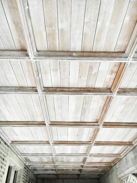 Canopy Photograph - Wooden Ceiling by Tom Gowanlock