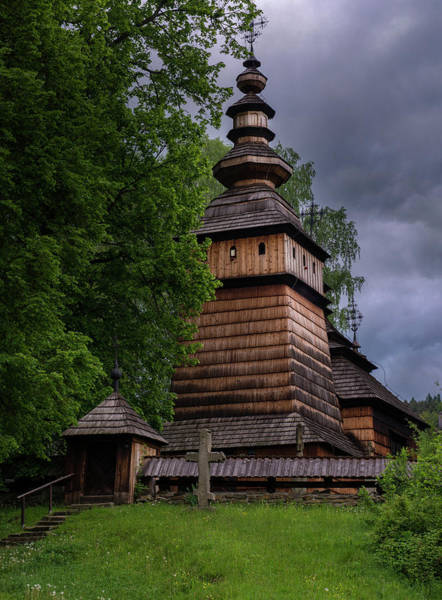 Photograph - Wooden Church Of St. Kosma I Damian by Jaroslaw Blaminsky