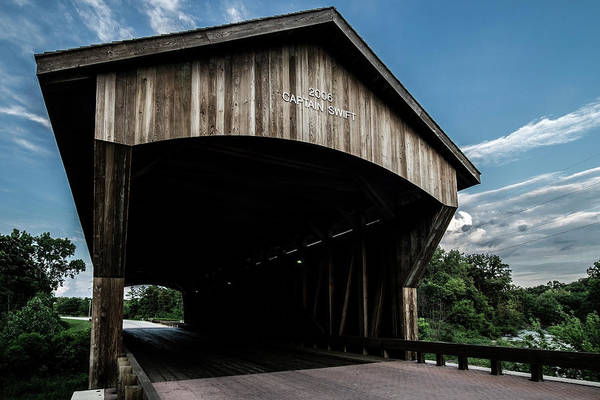 Photograph - Wooden Covered Bridge In Rural Illinois by Sven Brogren