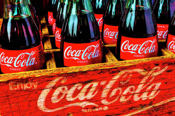 Coca Cola Photograph - Wooden Crate Of Coca Cola Bottles by Garry Gay