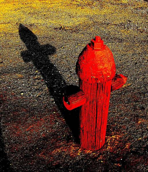 Wall Art - Photograph - Wooden Doggy Hydrant I-5 by John King