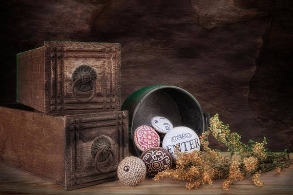 Pull Wall Art - Photograph - Wooden Drawers And Knobs Still Life by Tom Mc Nemar
