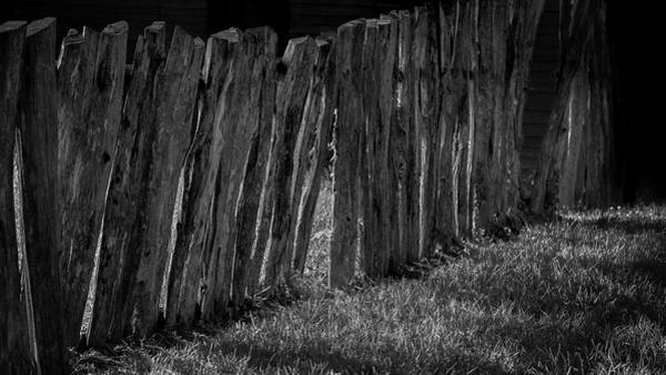 Wall Art - Photograph - Wooden Fence In Shadow And Light by Joseph Smith