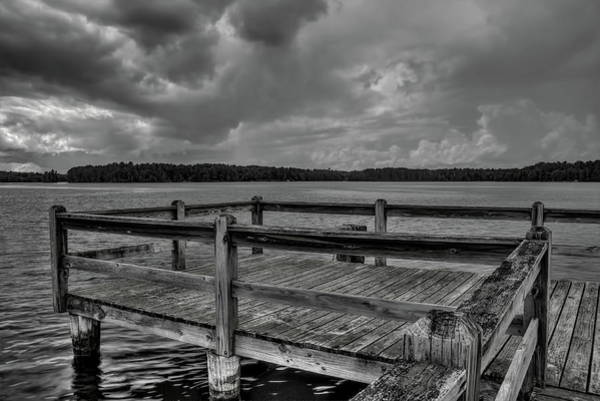 Photograph - Wooden Fishing Pier On Boom Lake by Dale Kauzlaric